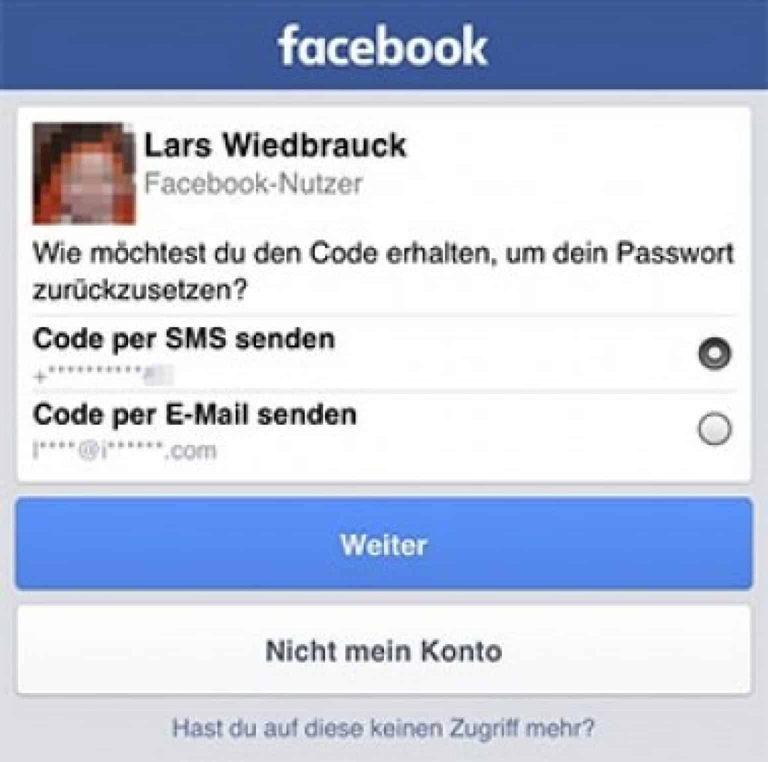 Facebook EMail und Passwort vergessen - was tun? - WDesign